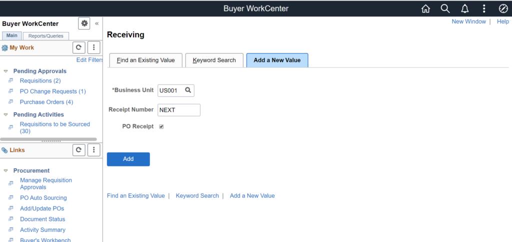 Buyer WorkCenter