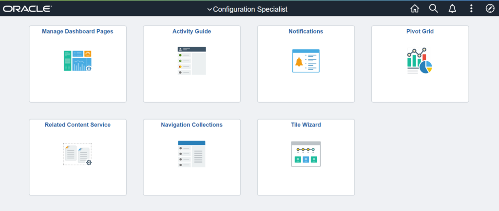 Configuration Specialist Homepage
